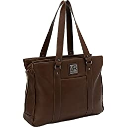 Kenneth Cole Reaction Hit A Triple Tote, Brown