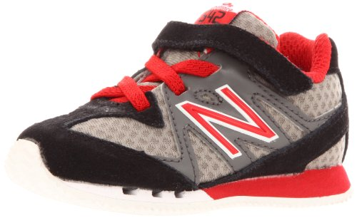 New Balance KV542 Classics Running Shoe (Infant/Toddler),Black/Red/Silver,9 M US Toddler