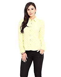 Paprika Yellow Coloured American Crepe Shirt Small