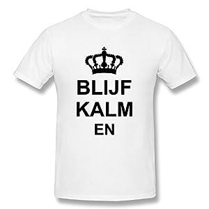 Customize Men's O-Neck Blijf Kalm En Funny Crown Quotes T Shirts