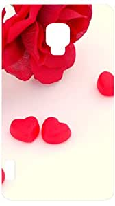 Flowers And Candy Hearts White Back Cover Case for LG Optimus L7 II P710