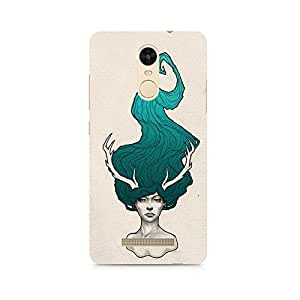 MOBICTURE Girl Abstract Premium Designer Mobile Back Case Cover For Xiaomi Redmi Note 3