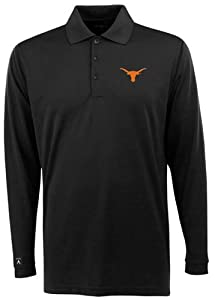 Texas Long Sleeve Polo Shirt (Team Color) by Antigua