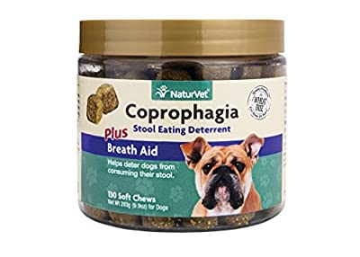 NaturVet 130 Count Coprophagia Soft Chew Bottle for Dogs