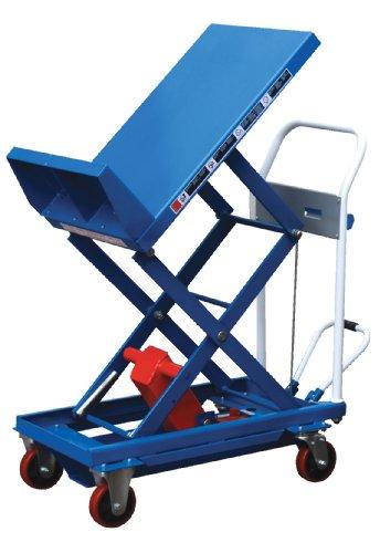 "Vestil Cart-400-Lt Steel Lift And Tilt Cart With Sequence Select, 400 Lbs Capacity, 30"" Length X 19-1/2"" Width Platform, 13"" - 31"" Height Range"