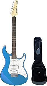 yamaha pac112j pacifica hss double cutaway electric guitar with tremolo lake blue. Black Bedroom Furniture Sets. Home Design Ideas