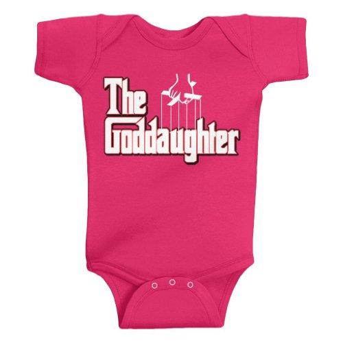 Threadrock Baby Girls' The Goddaughter Bodysuit 18M Hot Pink front-607404