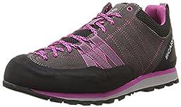 Scarpa Women\'s Crux Climbing Shoes Mid Grey / Dahlia 36 & Etip Lite Gripper Glove Bundle