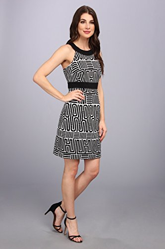 B00H4O04D8 laundry BY SHELLI SEGAL Women's Geo Print Sleeveless Dress, Black Multi, 8
