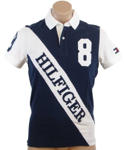 comparamus tommy hilfiger mens custom fit 8 logo polo. Black Bedroom Furniture Sets. Home Design Ideas