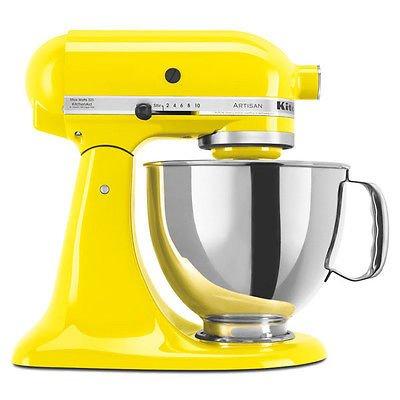 New Kitchenaid Stand Mixer Tilt 5-Quart Ksm150Psyc Yellow Citrus Artisan front-422327