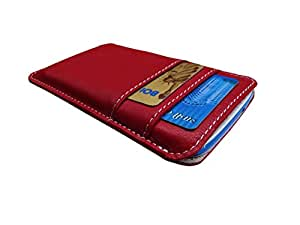 ATV Genuine Leather RED Designer Pouch Case Cover For Samsung Z3 Corporate Edition
