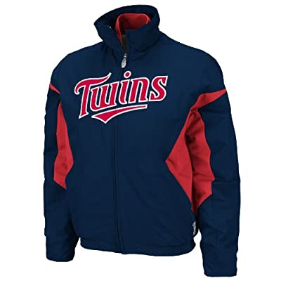 MLB Minnesota Twins Triple Peak Women's Jacket, Navy/Red