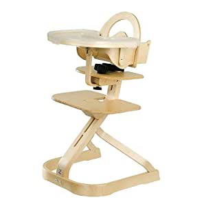 Svan High Chair With Tray Cover Natural Baby