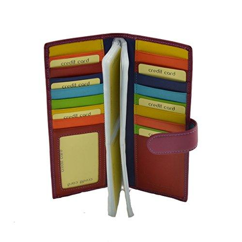 Portacarte Donna In Pelle Colore Ciclamino - Pelletteria Toscana Made In Italy - Accessori