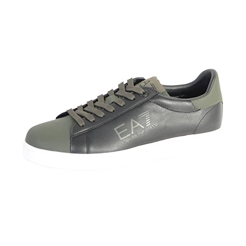 Emporio Armani EA7 scarpe sneakers uomo in pelle nuove nero EU 42 278063 6A299 01820