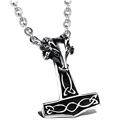 lalopez-mens-stainless-steel-vintage-raytheon-thors-hammer-pendant-necklacesilver