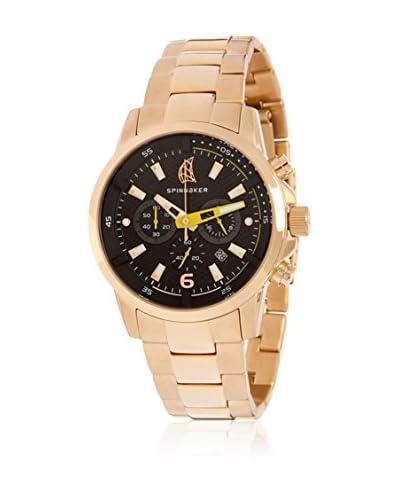 Spinnaker Reloj con movimiento cuarzo japonés Wheel & Winch Dorado 42 mm