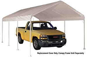 ShelterLogic 11072 10×20 White Canopy Replacement Cover, Fits 2 in. Frame
