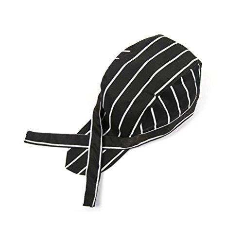 LEORX Striped Cappelli Headwrap Bandana Cappellini (Nero + Bianco)