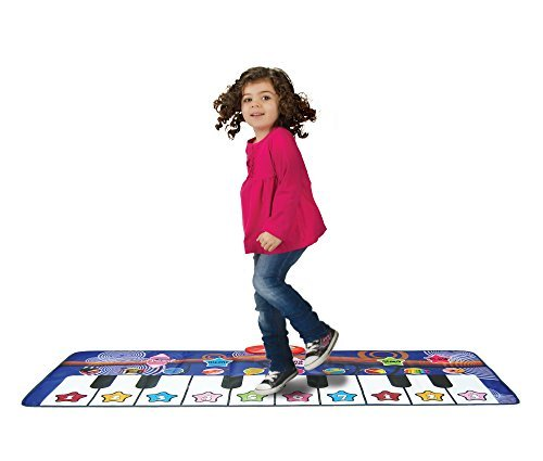 Piano Mat for Kids, 10 Selectable Sounds + Play -Record -Playback -Demo-mode, Heavy Duty Material,