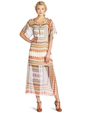 1折美国产Romeo & Juliet 女士连衣裙Couture Tribal Maxi Dress $17.24