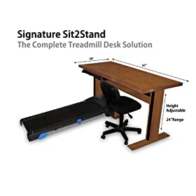 Signature Treadmill Desk Sit 2 Stand Treadmill Desk