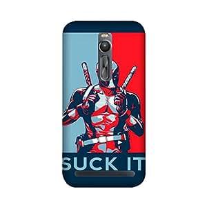 Yashas Asus Zenfone 2 Designer Printed Case & Covers (Asus Zenfone 2 Back Cover) - Superhero Deadpool