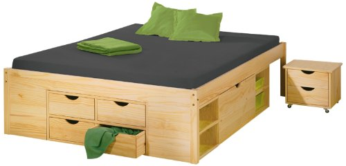 funktionsbett wei 140x200 g nstig kaufen. Black Bedroom Furniture Sets. Home Design Ideas