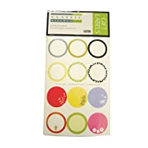 RSVP LABL-A Jam/Jelly Assorted Square & Round Gift Labels 48 ct.