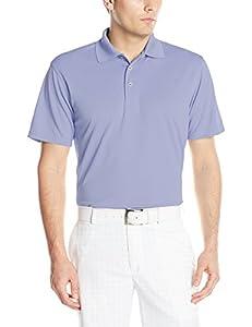 PGA TOUR Golf Air Flux Short-Sleeve Solid Polo Shirt, Thistle Down, Small