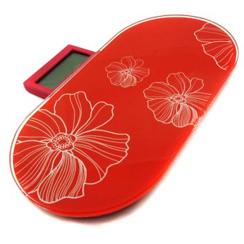 Cheap kilofly Portable Mini Digital Body Scale 330lb – Red (HLC308)