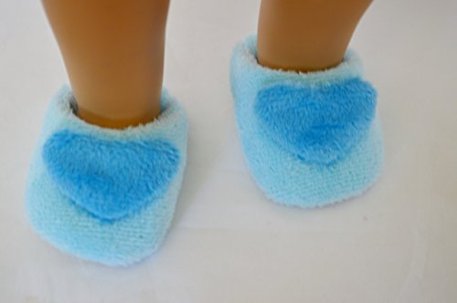 SKY BLUE SLIPPERS FOR AMERICAN GIRL DOLLS AND BITTY TWINS