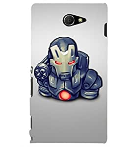 PRINTSHOPPII SUPERHERO Back Case Cover for Sony Xperia M2 Dual D2302::Sony Xperia M2
