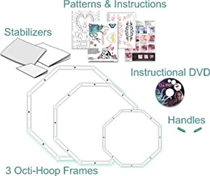 Octi-Hoops For Free Motion Quilting & Embroidery KIT