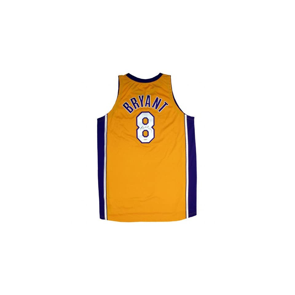 Kobe Bryant Los Angeles Lakers Autographed Yellow Jersey