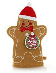 Happy Holidays Gingerbread Man Wash Mitt