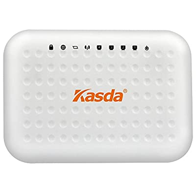 Kasda KW58293A 300Mbps Wireless ADSL2+ Modem Router 4-Ethernet Ports Built-in 2Tx2R Antennas