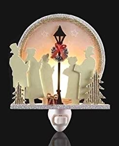 Carolers sing by streetlight Bubble Light night light Roman Lights Roman 165016