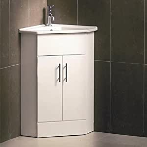 Linx valuebaths coin de meuble lavabo blanc 400 mm 580 x - Meuble salle de bain amazon ...