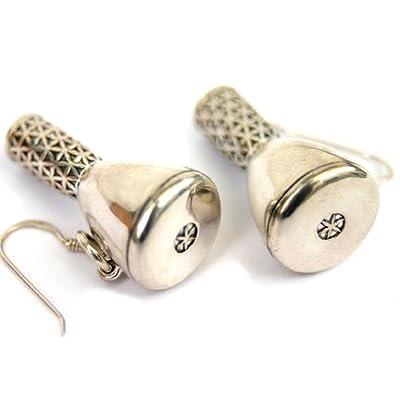 Sterling Silver Djembe Drum Earrings