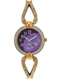 "DICE ""Venus-7157"" Fashionable, Elegant, Contemporary, Tasteful Wrist Watch For Women. Fitted With Gold Plated, Jewel Stone, Attractive Multi Dial Watch."