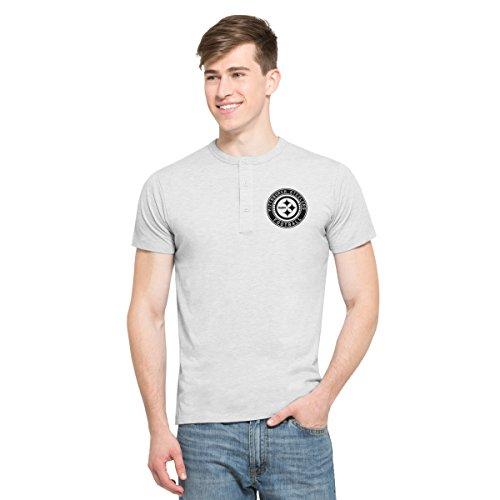 nfl-pittsburgh-steelers-mens-47-roost-short-sleeve-henley-shirt-medium-cinderblock