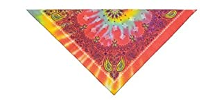 PetEdge Cotton/Polyester Paisley Dog Bandana, Tie Dye