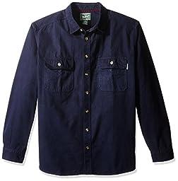 Woolrich Men\'s Tall Expedition Chamois Shirt, Deep Navy, XXX-Large