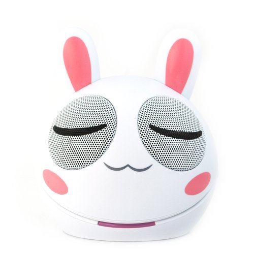 Ikross 3.5Mm Bunny Portable Mini Stereo Speaker For Blackberry, Iphone®, Ipod®, Ipad®, Smartphone, Tablets, Cell Phone