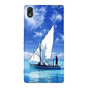 Delighted Boat Guy Back Case Cover for Sony Xperia Z2