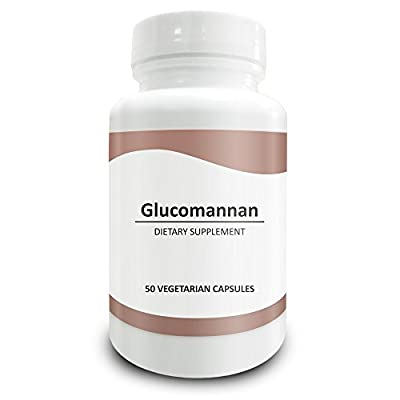 Pure Science Konjac Glucomannan Root 700mg 95% Standardized Extract - Promotes Normal Digestion & Weight Management, Regulates Appetite, Cholesterol Levels & Blood Sugar - 50 Vegetarian Capsules