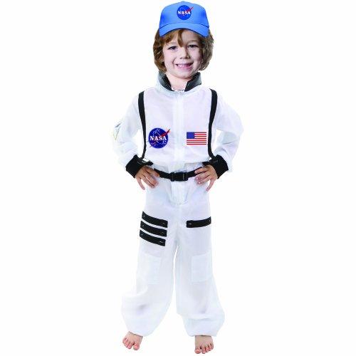 Dress Up America 724-T4 - Tuta Spaziale da Astronauta Bambini 3-4 Anni, Multicolore