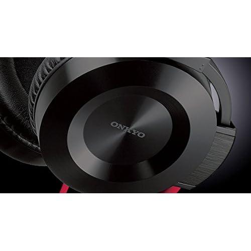 ONKYO オーバーヘッドタイプヘッドホン ブラック/レッド ES-FC300(R)